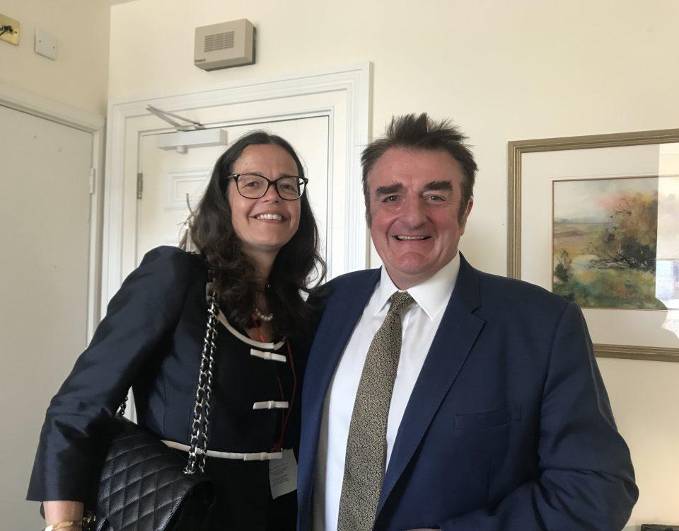 Sarah Waddington and Tommy Shepherd MP